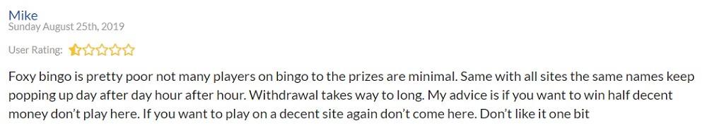 Foxy Bingo Player Review 2