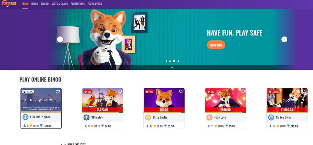 Foxy Bingo Website