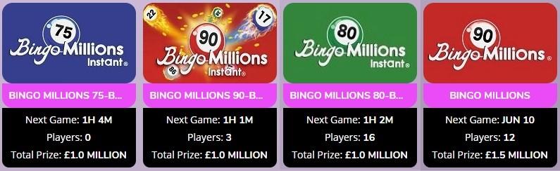 Lights Camera Bingo Bingo Millions