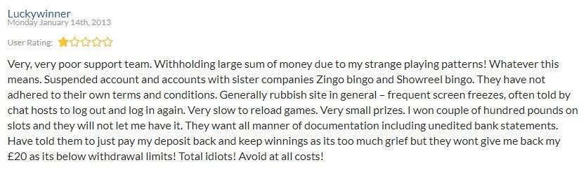 Lights Camera Bingo Player Review