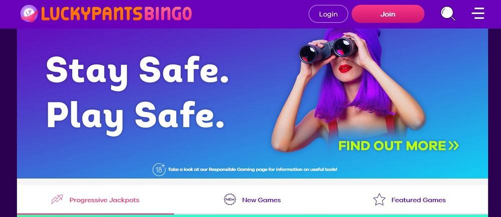 Lucky Pants Bingo Website