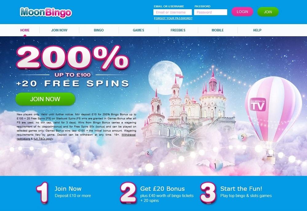 Moon Bingo Website