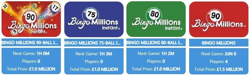 Palace Bingo Bingo Millions