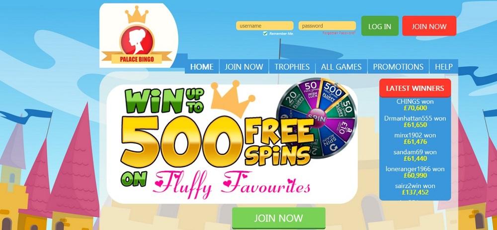 Palace Bingo Website