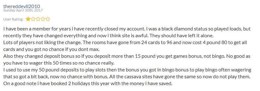 Posh Bingo Player Review 3