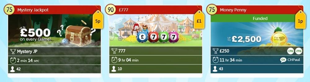 Robin Hood Bingo Daily Jackpots Lobby