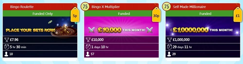 Robin Hood Bingo Mega Jackpots Lobby