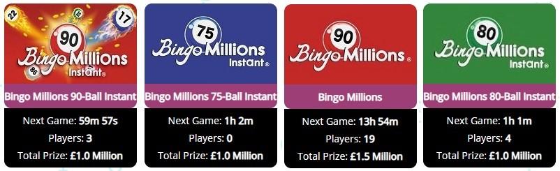 Rocket Bingo Bingo Millions
