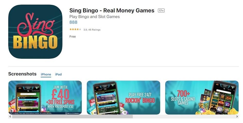 Sing Bingo Mobile App