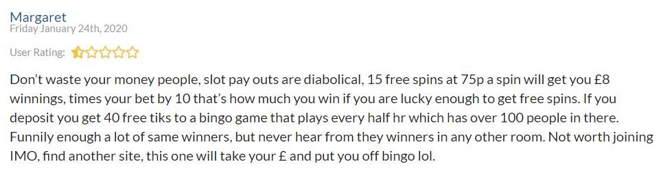 Sing Bingo Player Review