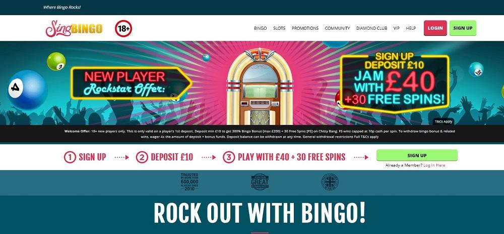 Sing Bingo Website