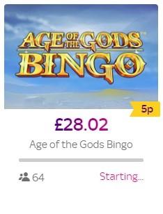 Sky Bingo Age of the Gods Bingo