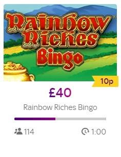 Sky Bingo Rainbow Riches Bingo