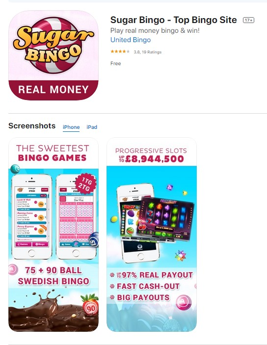 Sugar Bingo Mobile App