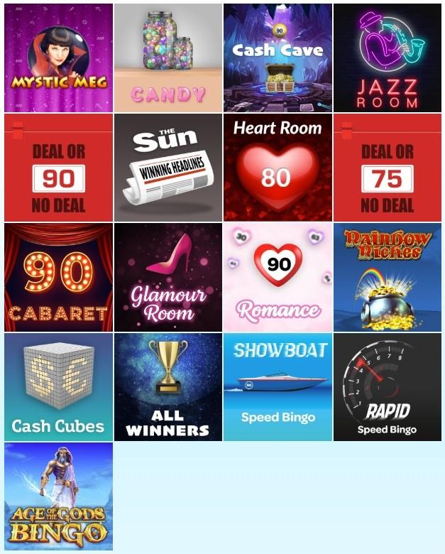 Sun Bingo Lobby