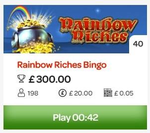 Sun Bingo Ranbow Riches Bingo