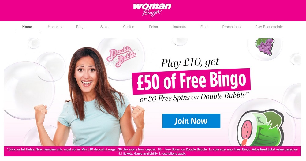 Woman Bingo Website