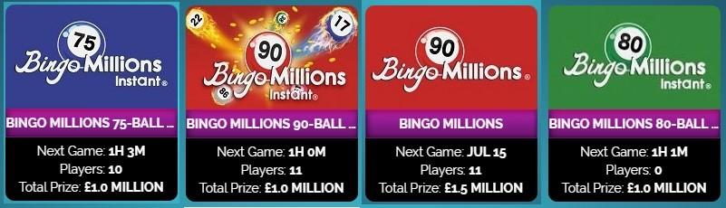 Amazing Bingo Bingo Millions