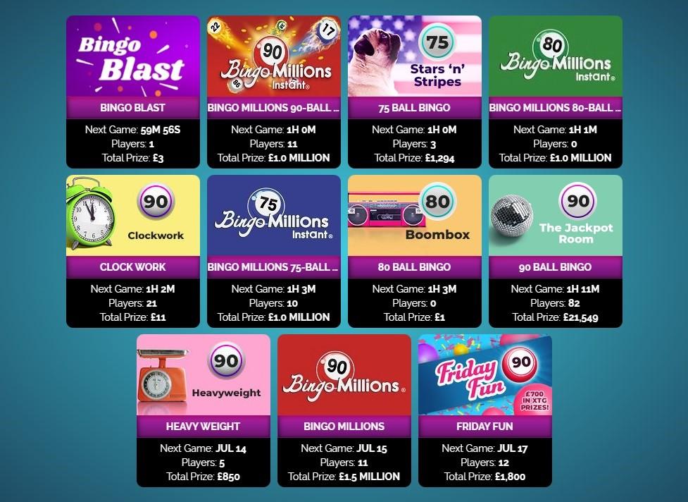 Amazing Bingo Lobby