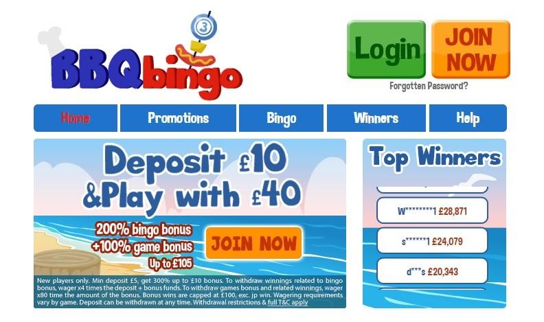 BBQ Bingo Website