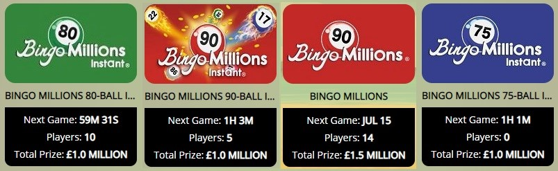 Balmy Bingo Bingo Millions