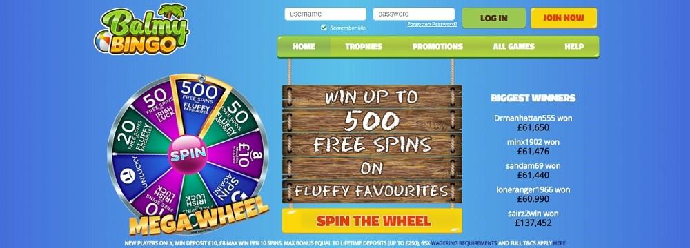 Balmy Bingo Website