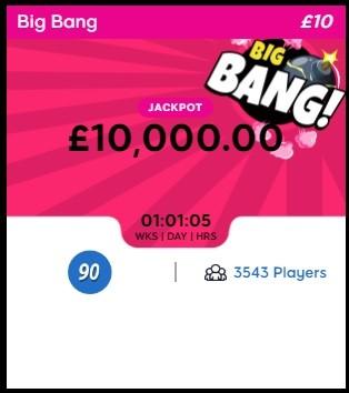 Big Tease Bingo Big Bang