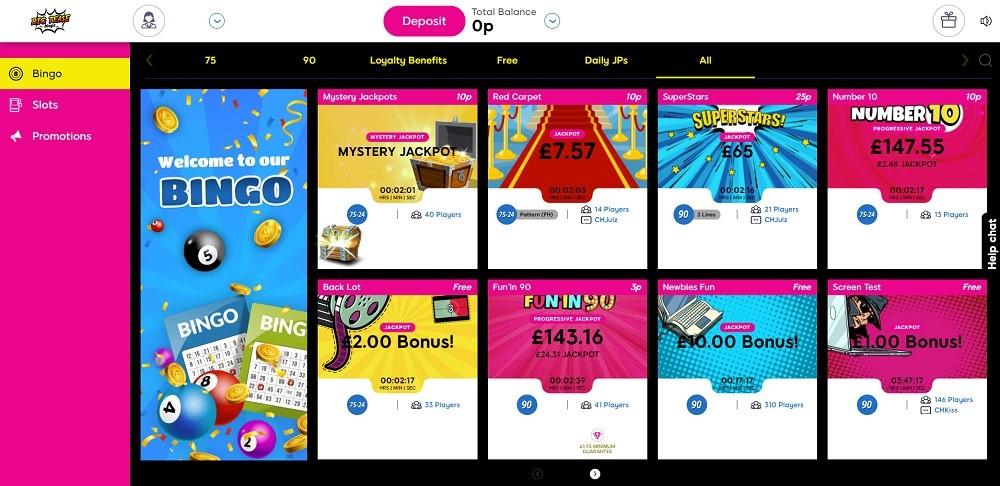 Big Tease Bingo Members Area