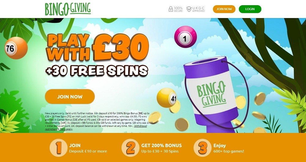 Bingo Giving Website