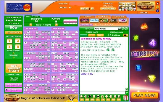 Bingo Hearts Game in Progress