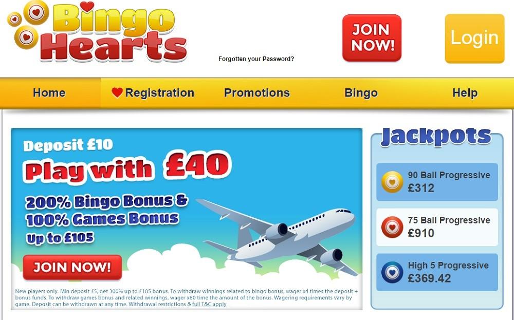 Bingo Hearts Website