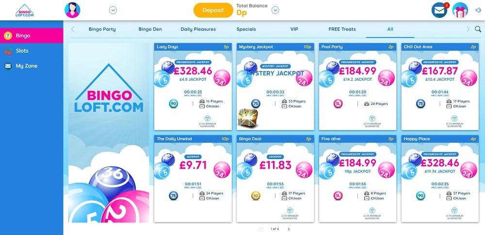 Bingo Loft Members Area