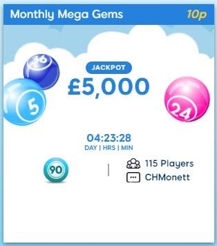 Bingo Loft Monthly Mega Gems