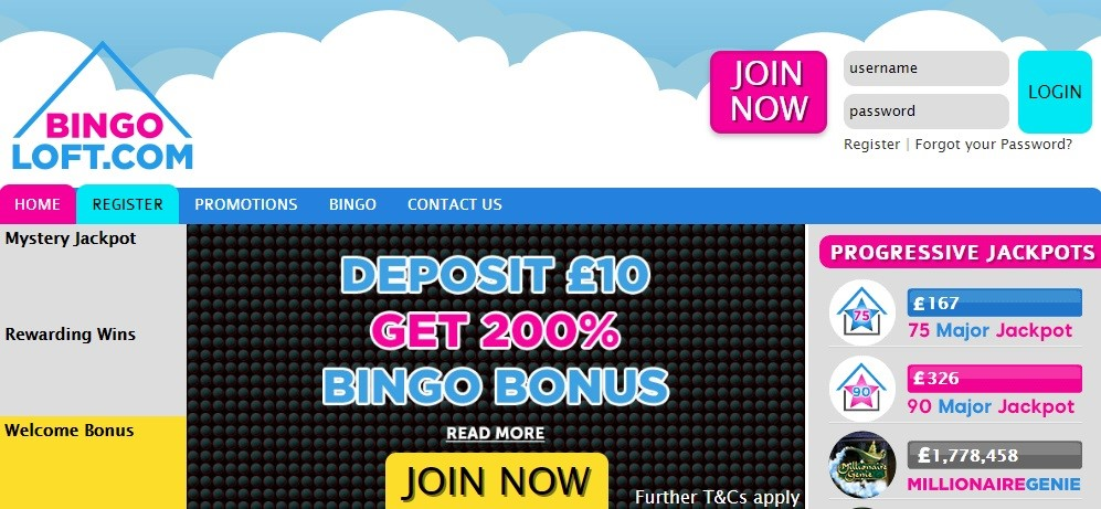 Bingo Loft Website