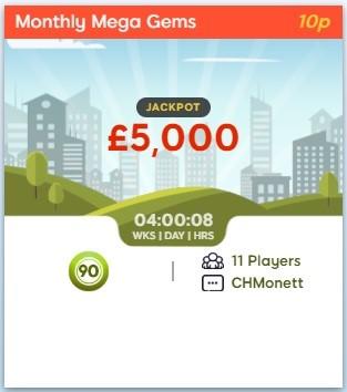 Bingo Street Monthly Mega Gems