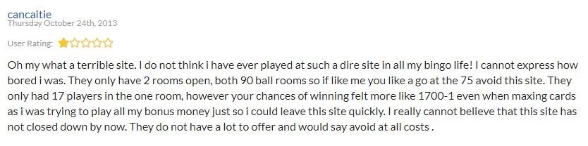 Bingo Street Player Review