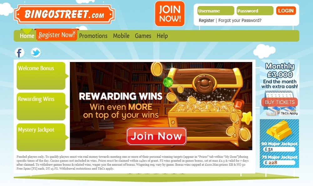 Bingo Street Website