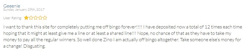 BingoZino Player Review 2