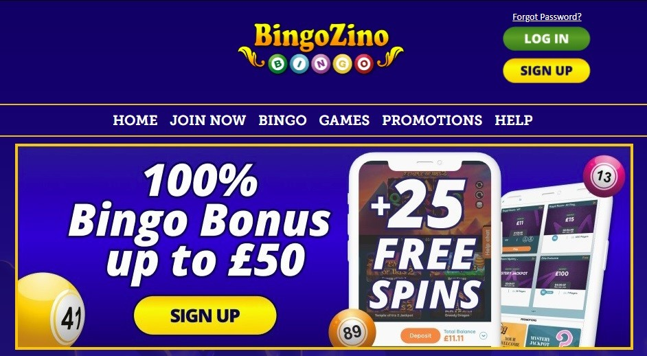 BingoZino Website
