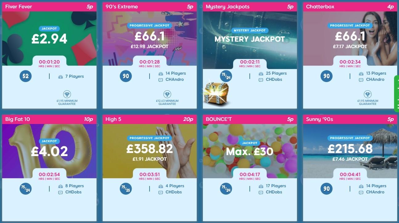 Bubble Bonus Bingo Lobby