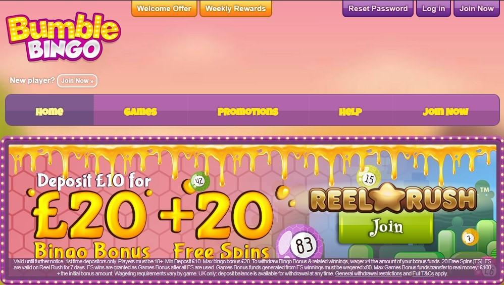 Bumble Bingo Website