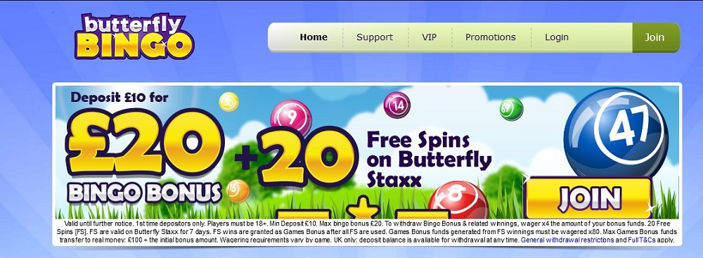 Butterfly Bingo Website