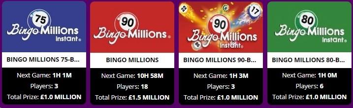 Charming Bingo Bingo Millions
