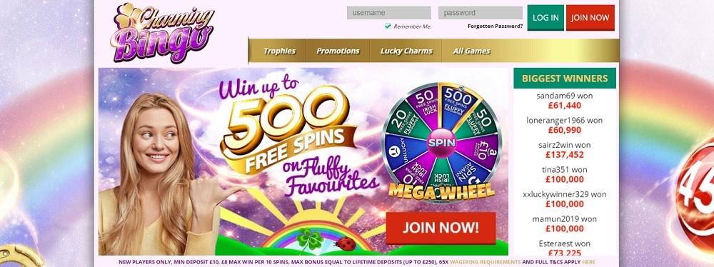 Charming Bingo Website