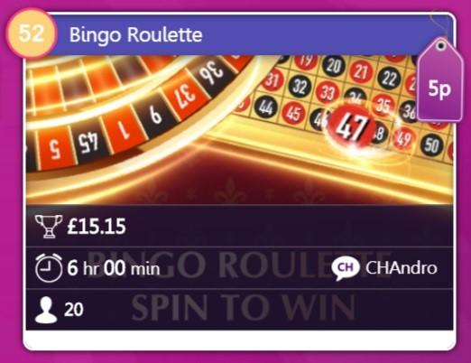 Chit Chat Bingo Bingo Roulette