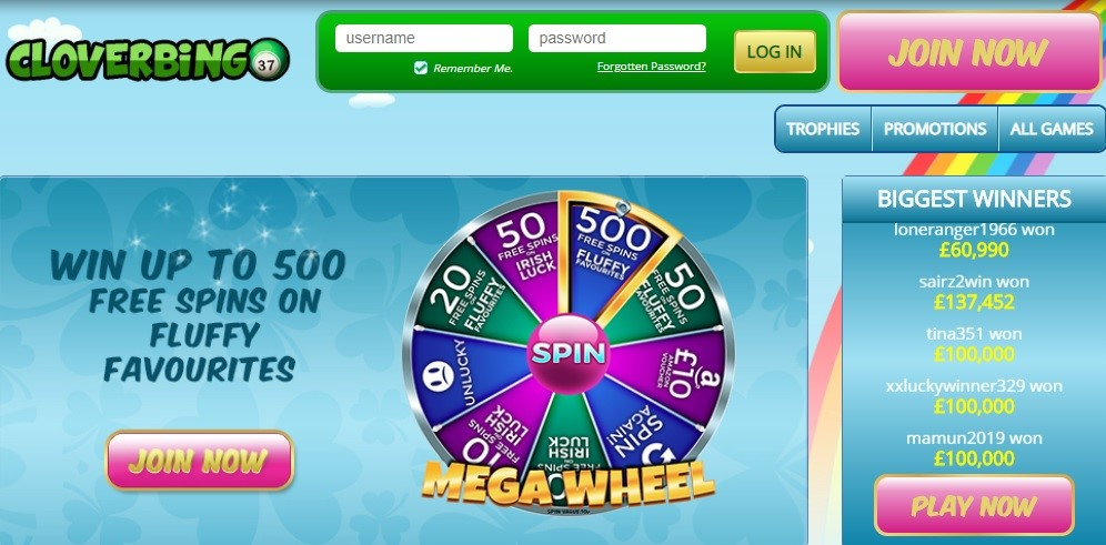 Clover Bingo Website