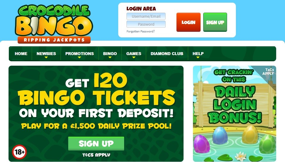 Crocodile Bingo Website