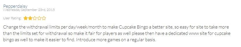 Cupcake Bingo Player Review