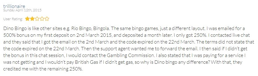 Dino Bingo Player Review
