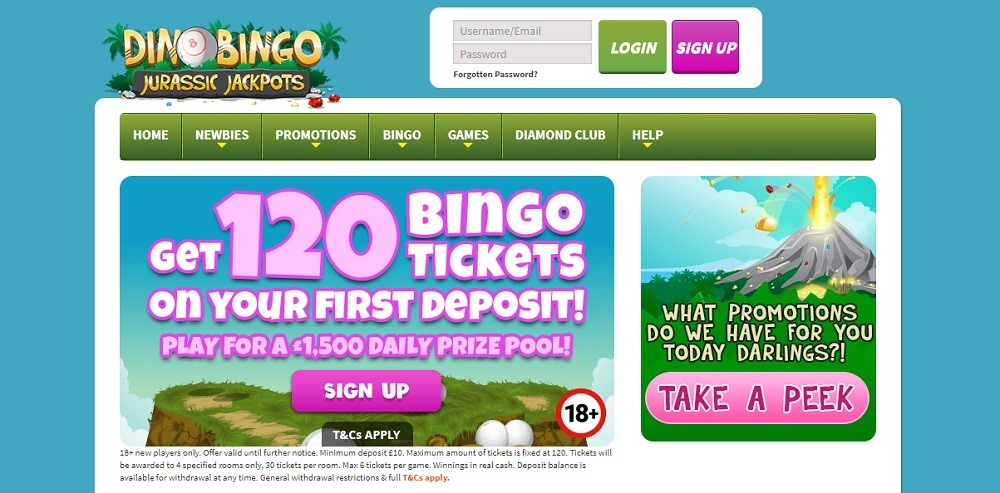 Dino Bingo Website